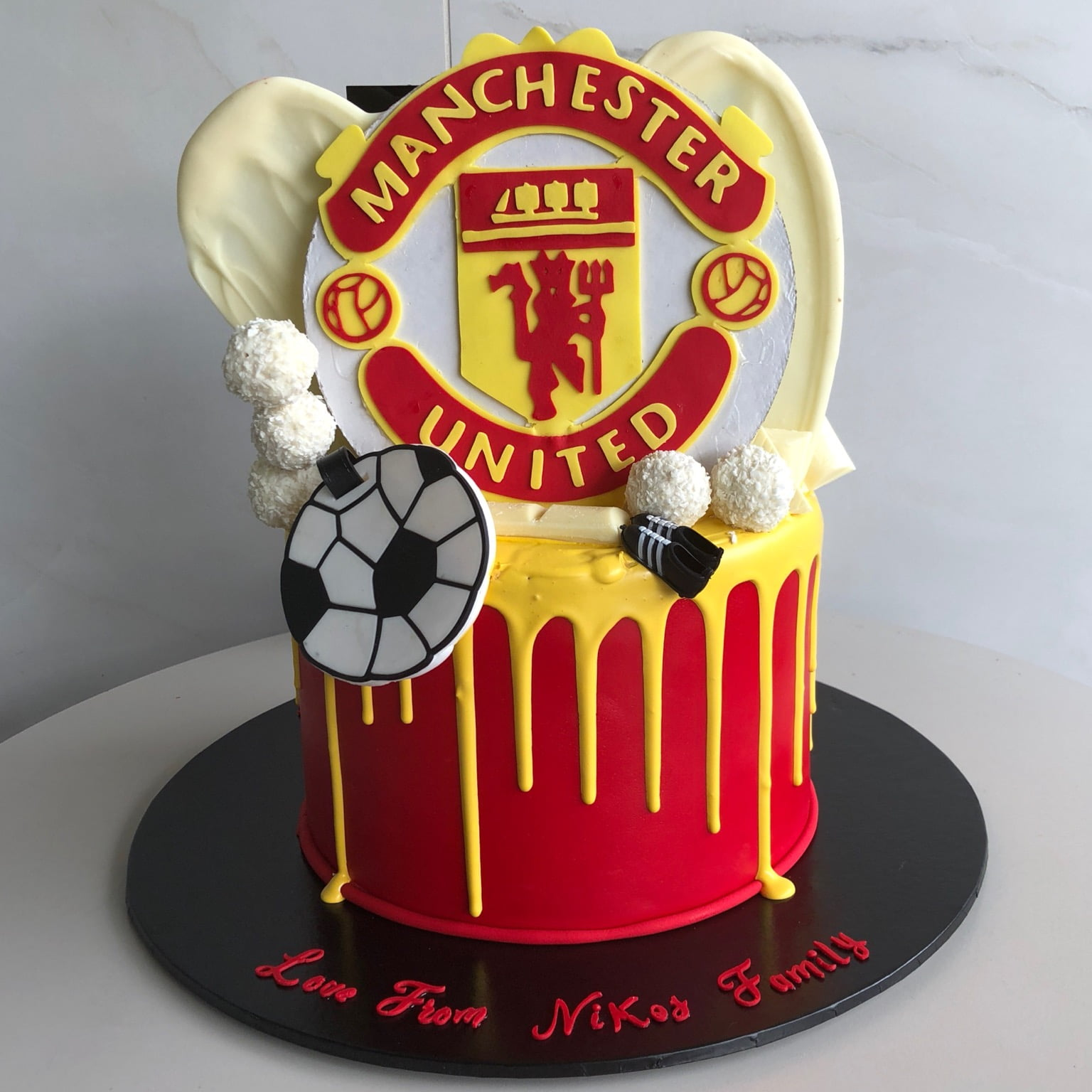 Awesome Manchester United Nikos Cakes Birthday Cards Printable Nowaargucafe Filternl