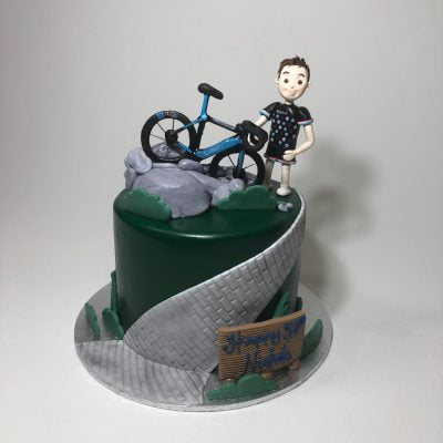 Fabulous Mountain Bike Nikos Cakes Funny Birthday Cards Online Overcheapnameinfo