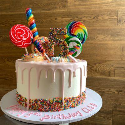 Admirable Cleos Lollipop Party Nikos Cakes Birthday Cards Printable Inklcafe Filternl