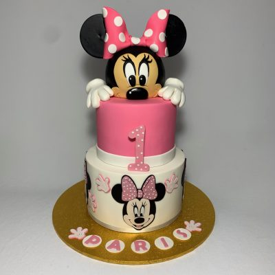 Excellent Deluxe Minnie Mouse Cake Nikos Cakes Personalised Birthday Cards Beptaeletsinfo