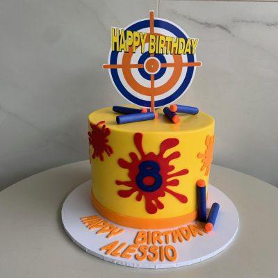 Magnificent Paintball Party Nikos Cakes Birthday Cards Printable Giouspongecafe Filternl