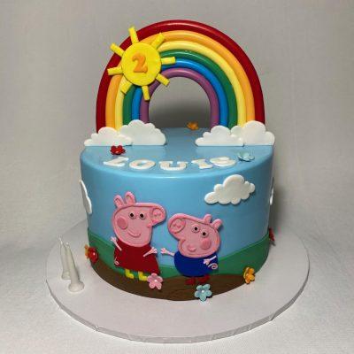 Astonishing Peppa Pig Archives Nikos Cakes Funny Birthday Cards Online Hendilapandamsfinfo